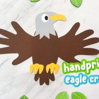 Handprint Bald Eagle Craft For Kids