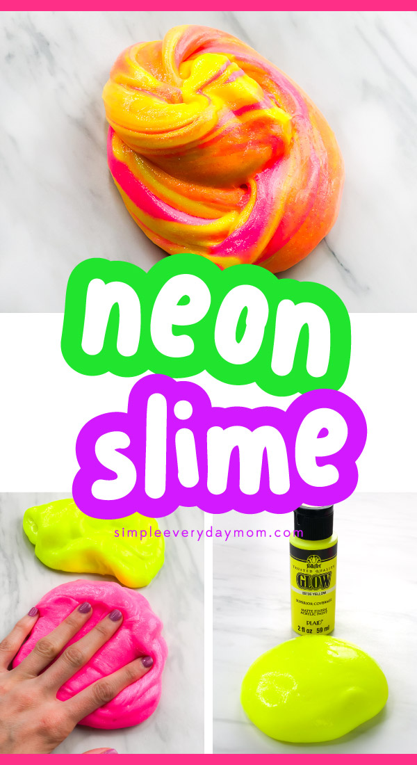 yellow and pink neon slime