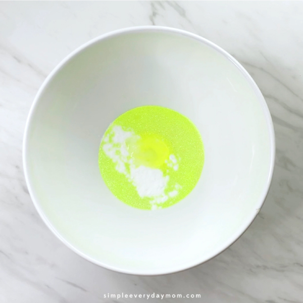 bowl of slime ingredients