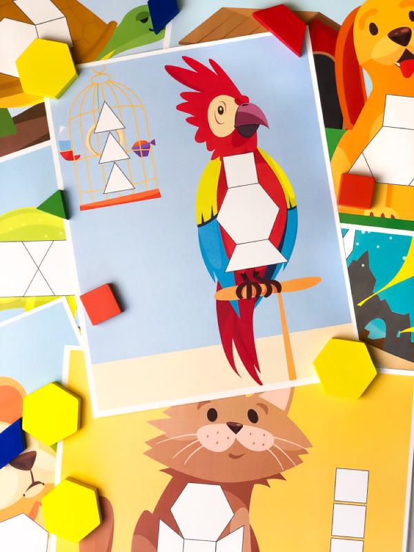 parrot pattern block mat