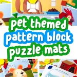 collage of pet tangram puzzles
