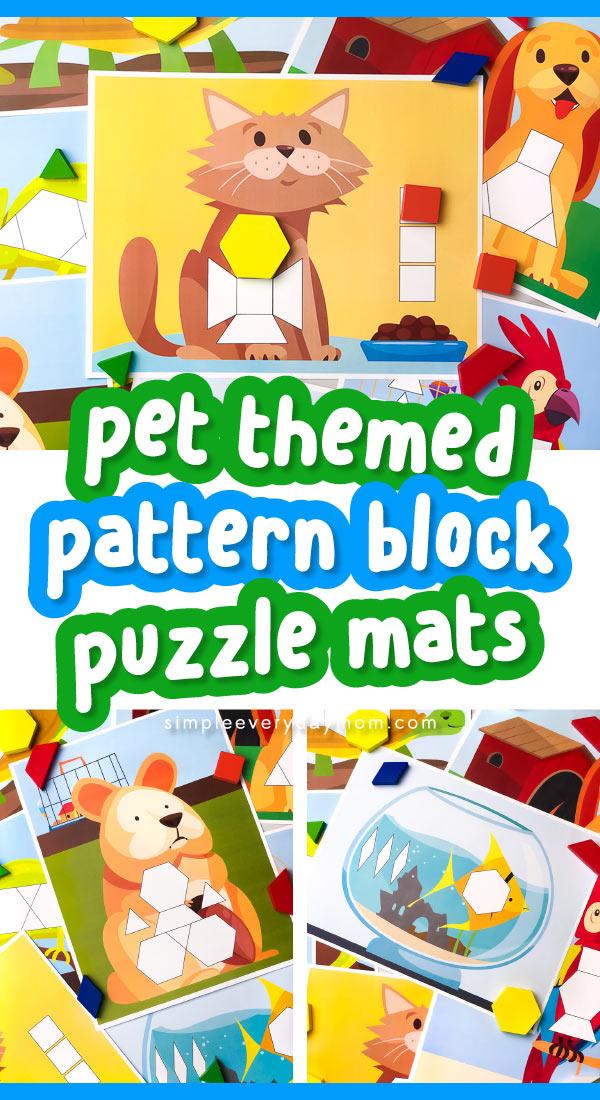 collage of pet tangram puzzles