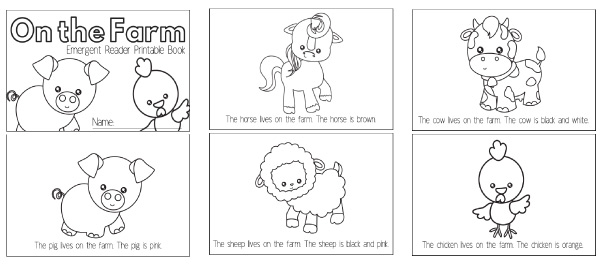 Farm Animal Printables For Preschool
