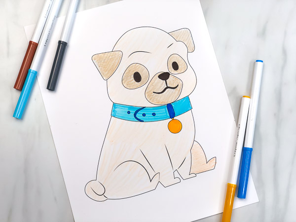 coloring pages of a puppy