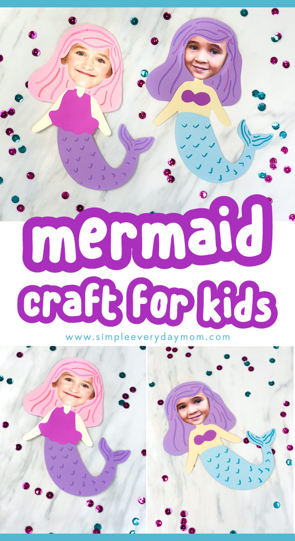 collage of paper mermaids