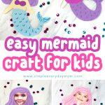 collage of mermaid girls craft