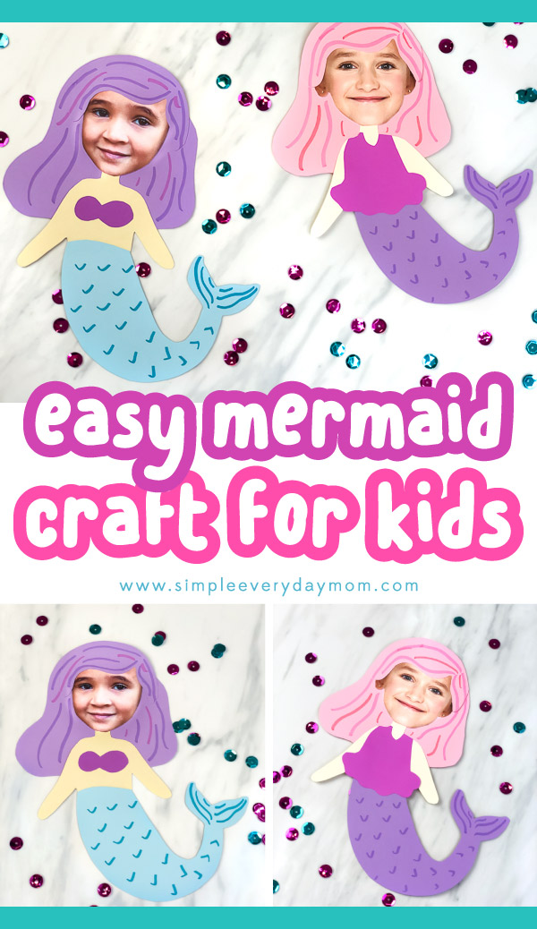 collage of mermaid girls craft