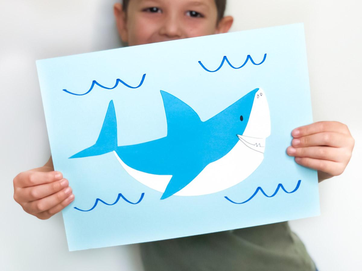 Easy Paper Shark Craft For Kids