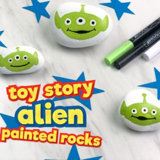 Toy Story Alien Painted Rocks
