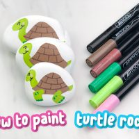 How To Make Easy Turtle Painted Rocks For Kids
