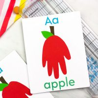 Jumbo Flashcard Handprint Apple Craft For Kids