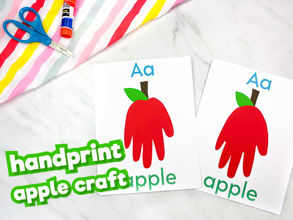 handprint apple craft