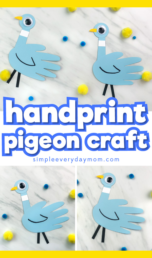 handprint pigeon paper craft