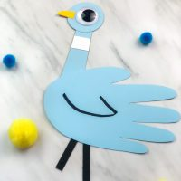 Mo Willems Inspired Handprint Pigeon Craft For Kids