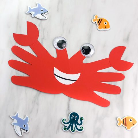 Easy & Fun Handprint Crab Craft For Kids