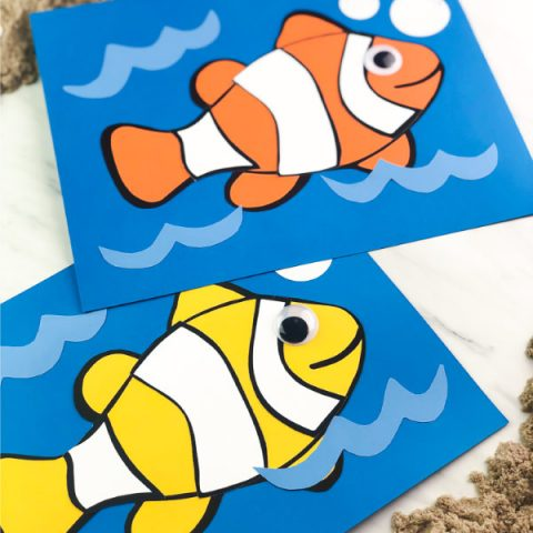 Easy Clown Fish Preschool Craft