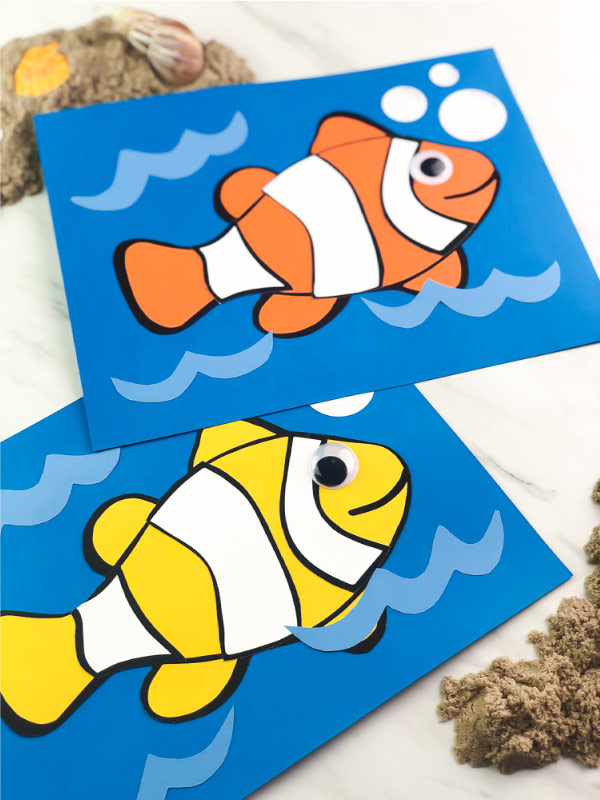 clownfish paper craft for kids
