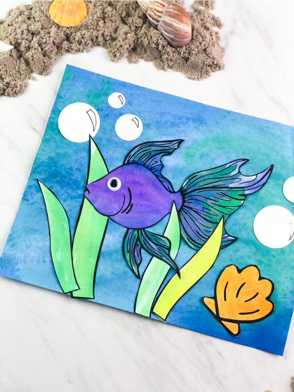 Easy Fish Painting For Kids