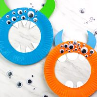 Easy Paper Plate Monster Craft