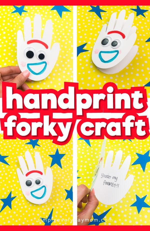 handprint forky craft for kids