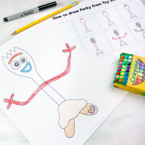 How to Draw Forky From Toy Story 4