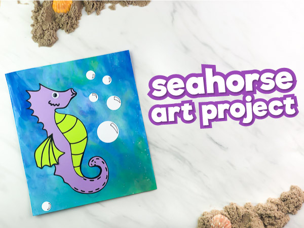 Easy Seahorse Craft For Preschool [With Free Template]
