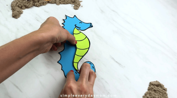seahorse art for kids