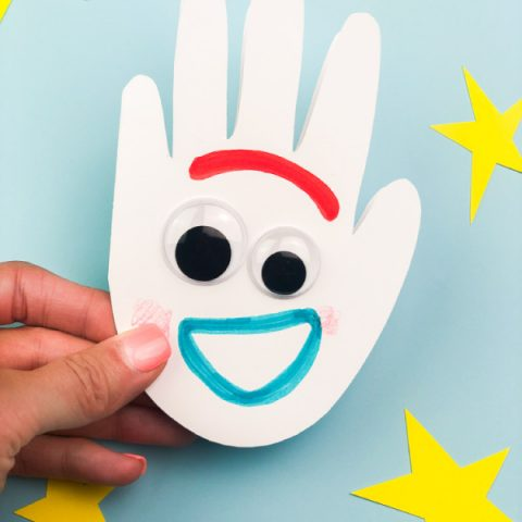 Handprint Forky Toy Story 4 Craft For Kids