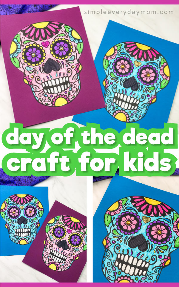 sugar skull printable craft for kids