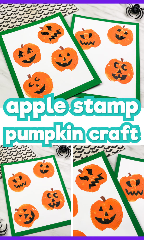 apple stamped pumpkin craft