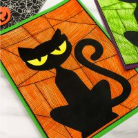 Halloween Black Cat Craft For Kids