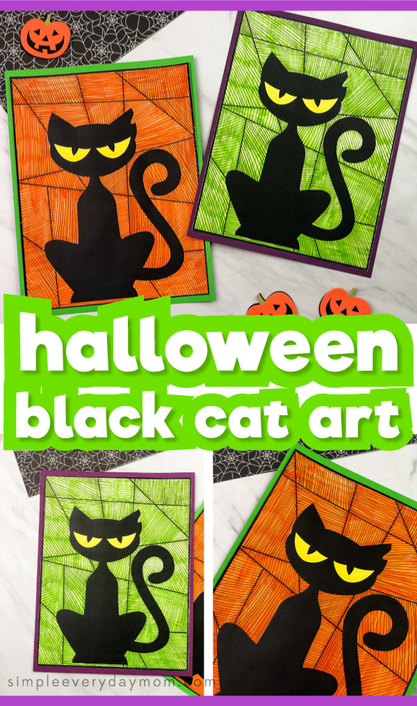 halloween black cat craft