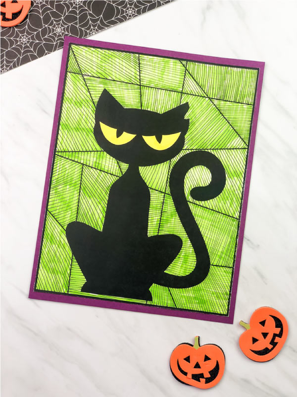 black cat art project for kids