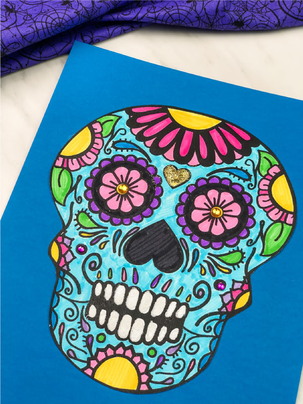 day of the dead sugar skull craft