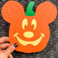 Mickey Mouse Pumpkin Craft For Kids