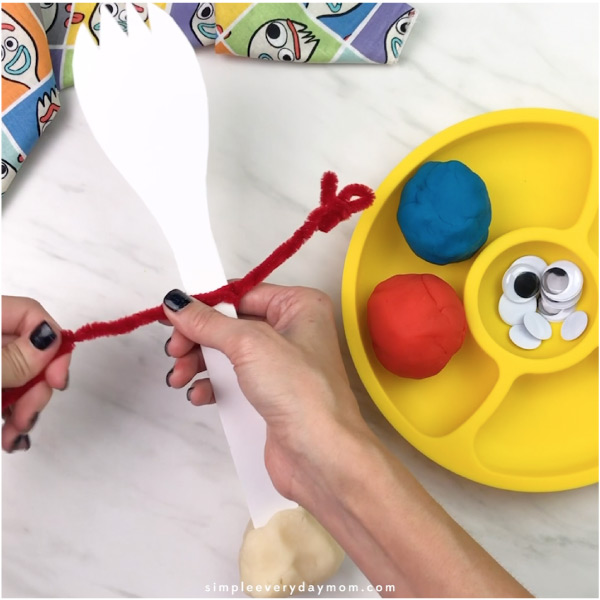 play dough forky