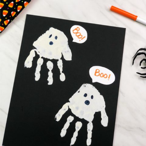 Handprint Ghost Art Project For Kids