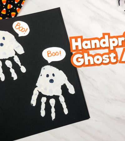 handprint ghost art project
