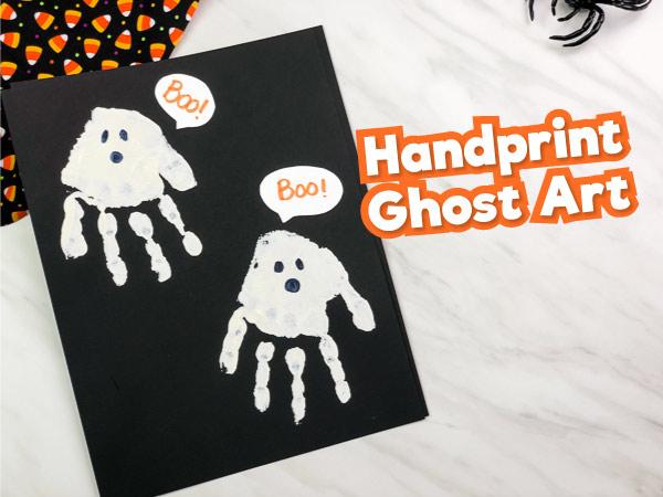 handprint ghost art project