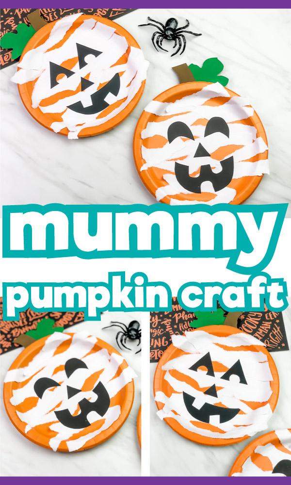 paper plate pumpkin craft for kids