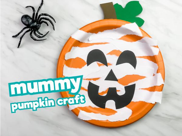 mummy pumpkin craft for kids