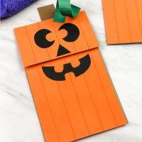 Paper Bag Pumpkin Puppet For Kids