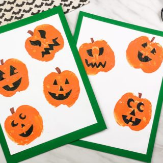 Apple Stamp Pumpkin Craft For Kids