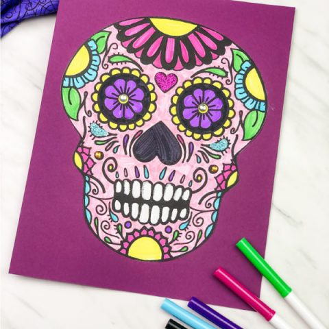 Easy Kids Sugar Skull Craft For The Day Of The Dead