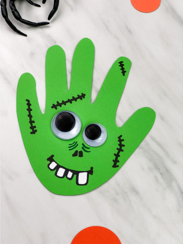 handprint craft for halloween