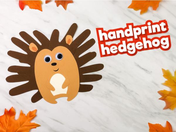 Handprint Hedgehog Craft