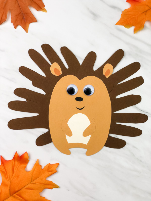 handprint hedgehog craft