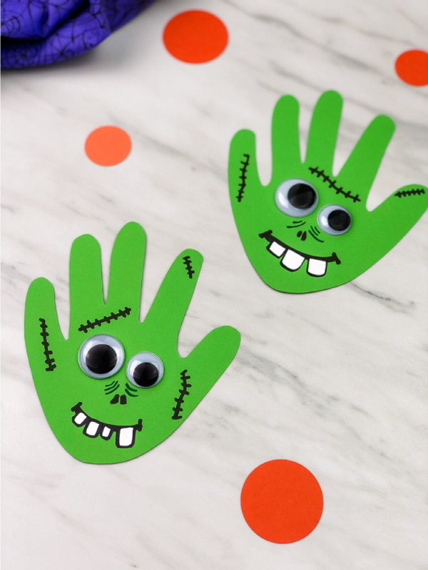 handprint halloween craft