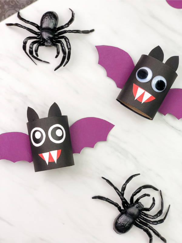 toilet paper roll bat crafts