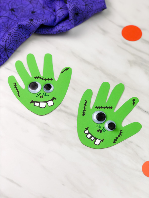 2 handprint zombie crafts